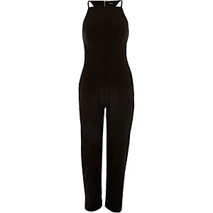 Black racer back jumpsuit