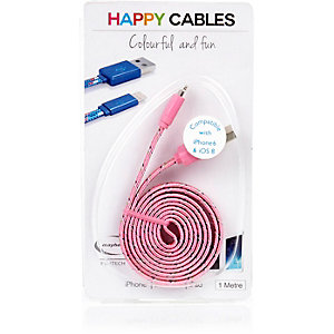 Pink happy iPhone 6 cable