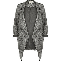 Dark grey jersey draped jacket