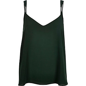 Dark green V-neck cami