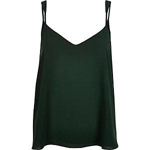 Dark green V-neck cami