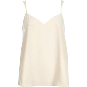 Cream V-neck cami