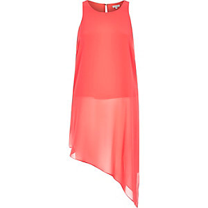 Red asymmetric vest