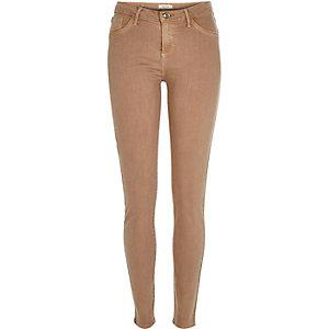 Dusky pink Amelie superskinny jeans