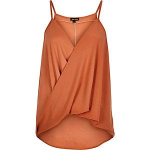 Dark orange chain front cami