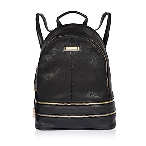 Black zip around backpack