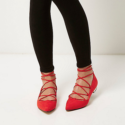 River Island red flats