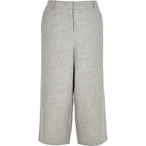 Grey smart woven culottes