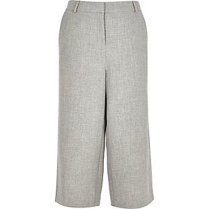 Grey smart woven culottes