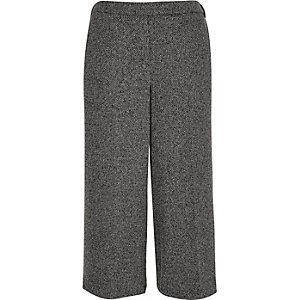 Dark grey woven culottes