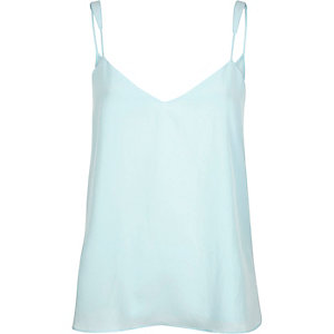 Aqua blue V-neck cami