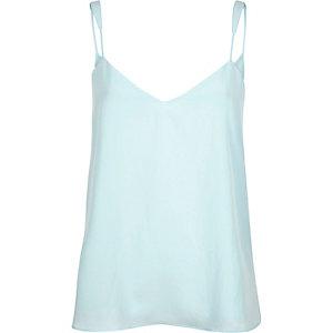 Aqua blue V-neck cami