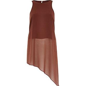 Rust brown asymmetric top