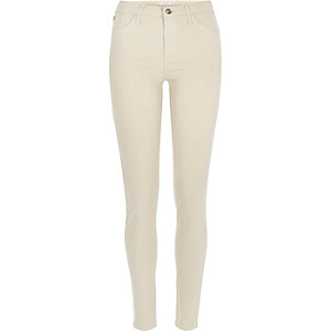 Dark beige Amelie superskinny jeans