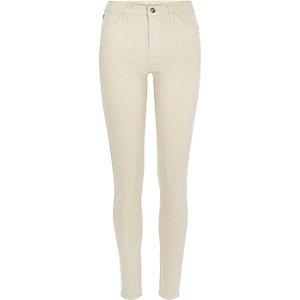 Dark beige Amelie superskinny jeans
