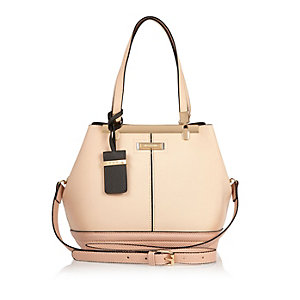 Pink bucket handbag