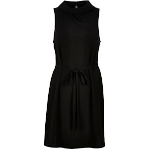 Black waisted sleeveless dress