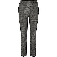 Dark grey tailored skinny trousers