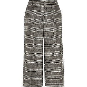 Grey smart check culottes