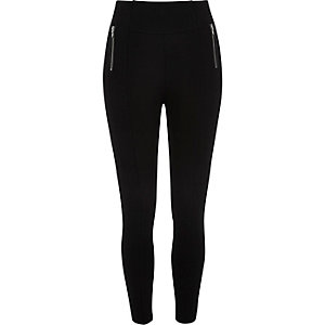 Black side zip leggings