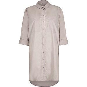 Grey longline shirt