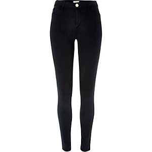 Navy sateen finish Molly jeggings