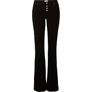 Black button up Brooke flare jeans