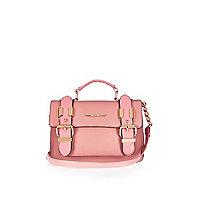 Pink mini satchel handbag