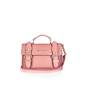 Pink mini satchel handbag