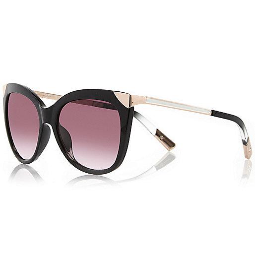 Schwarze Sonnenbrille mit Metall-Details