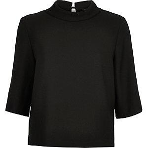 Black high neck t-shirt