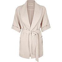 Grey 3/4 sleeve kimono jacket