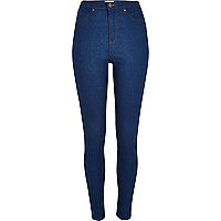 Bright blue high waisted Molly jeggings