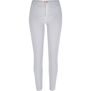Light purple ankle grazer Molly jeggings