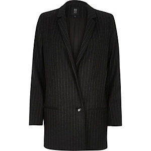 Grey RI Studio wool-blend pin stripe blazer