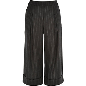 Grey RI Studio smart pin stripe culottes