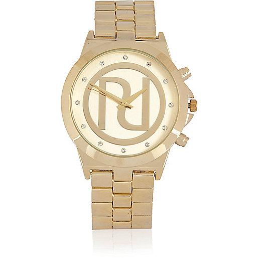 Gold tone RI chunky watch