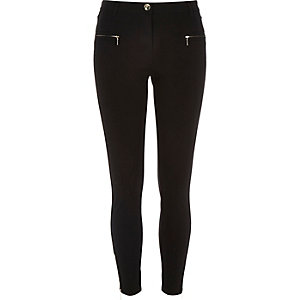 Black jersey superskinny trousers
