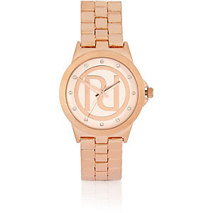 Rose gold tone RI chunky watch