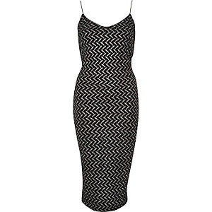 Silver sparkle strappy bodycon dress