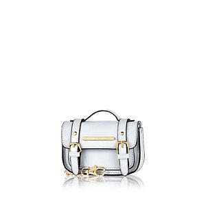 Light blue mini satchel keyring