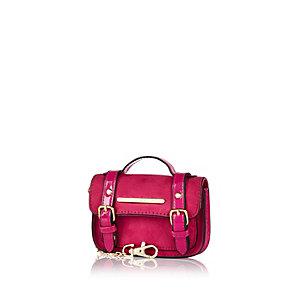 Pink mini satchel keyring