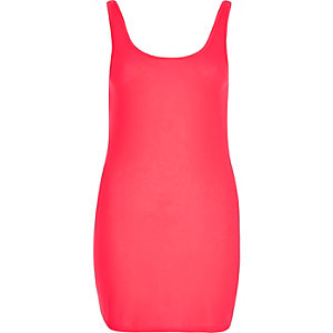 Bright pink scoop neck tank