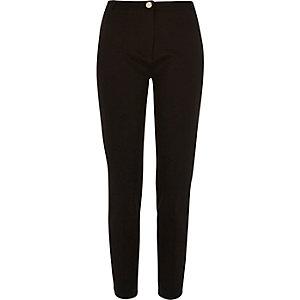 Black slim smart trousers