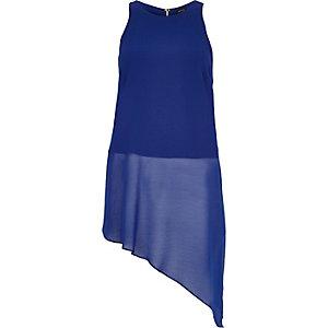Blue asymmetric vest