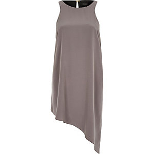 Grey asymmetric vest