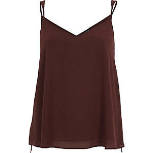Rust brown V-neck cami