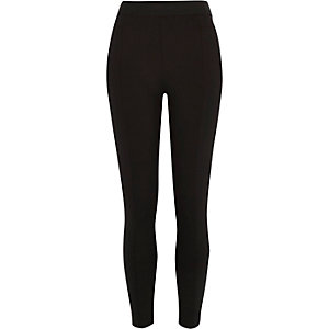 Black scuba high waisted leggings