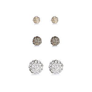 Multi stud earrings pack