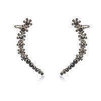 Black gem encrusted ear cuffs
